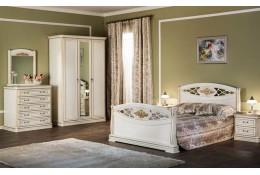 Спальня Екатерина Люкс дуб беленый золото