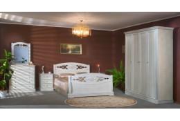 Спальня Екатерина Люкс дуб беленый серебро