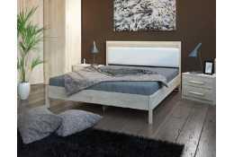 Кровать (1600*2000) №211 + спинка СМ №20 (классик белая)