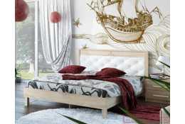 Кровать (1600*2000) №93.01 + спинка СМ №11.01 (классик белая)