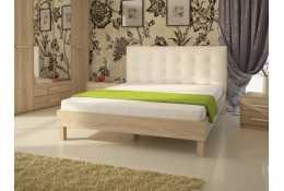 Кровать (1600*2000) №93.01 + спинка СМ №1 (классик белая, черная)