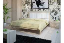 Кровать (1600*2000) №93.01 + спинка СМ №11 (классик белая)