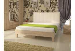 Кровать (1600*2000) №93.01 + спинка СМ №2 (классик белая, черная)