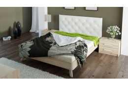 Кровать (1600*2000) №69 + спинка СМ №14 (классик белая, черная)