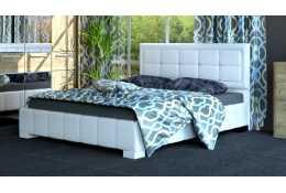 Кровать с основанием (1600*2000) №227 (белая, коричневая)