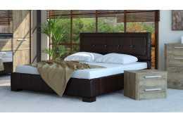 Кровать с подъемным механизмом (1600*2000) №228 (белая, коричневая)