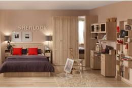 Мебель для спальни Sherlock (дуб сонома, ясень анкор)